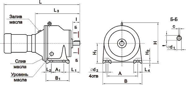 Мотор-редуктор МПО2М-10Щ