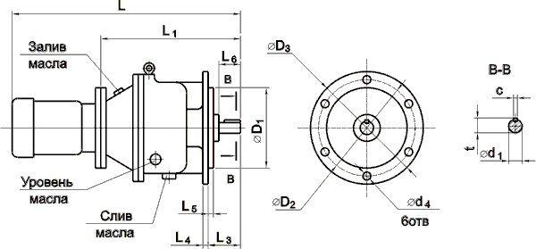 Мотор-редуктор МПО2М-10Ф