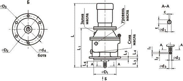 Мотор-редуктор МПО2М-10В и ВК