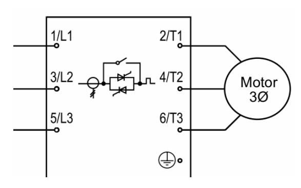 Встроенный контактор байпаса на 3 фазы