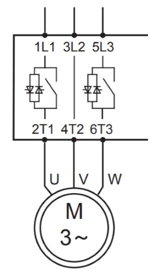 Встроенный контактор байпаса на 2 фазы